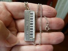 (M-324-E-1) PEWTER ROLAND D50 SYNTHESIZER keyboard NECKLACE music JEWELRY