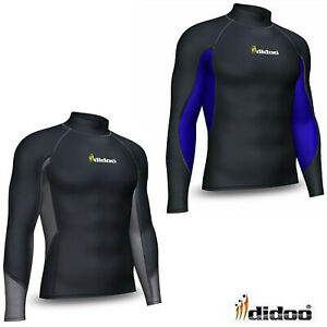 Didoo Compression Base Layer Mens Thermal Top Long Sleeve Mock Neck Winter Wear