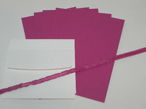 BERRY BURST A2 CARDSTOCK PAPER CARDS RIBBON STAMPIN UP PLUS ENVELOPES