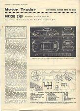 PORSCHE 356B MOTORE OPERATORE i dati del servizio n. 2 / CSD 1963
