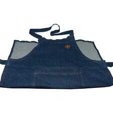 Hairy Bikers Blue Denim Fabric Apron, Tie Waist, One Size Fits All, Large Pocket