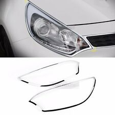 Chrome Front Head Light Lamp Molding Garnish K965 for KIA 2012-17 Rio HatchBack