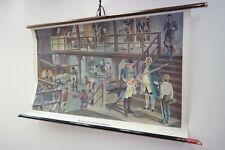 Vecchio Lavagna didattica Pistola manufactory Vintage deco Cartina da parete