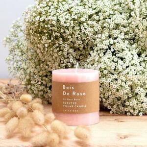 Bois De Rose Pillar Candle