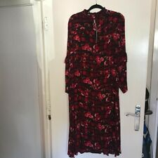 Gorgeous Asos Red Floral Pattern Zip Front Dress - Worn But Fab! 18