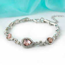 Fashion Women Lady Royal Ocean Heart Crystal Rhinestone Bangle Bracelet Gift Hot