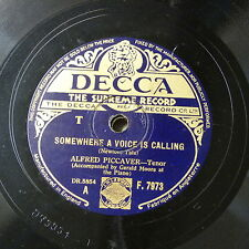 78rpm ALFRED PICCAVER somewhere a voice is calling / a little love a little kiss