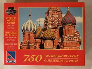 Wonders of the World - St Basil Cathedral COMPLETE 750 Pc Jigsaw Puzzle Sure-Lox