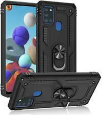 Samsung Galaxy A21S Shockproof Military Case Cover Armor 360 Stand Ring Holder