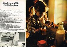 PUBLICITE ADVERTISING 084  1976  SEB  la yaourtière (2 pages)
