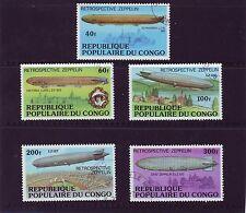 Congo Mi 577-81 Zeppelins Used C.W. 2,80 euro