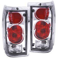 fits mazda b2000 b2200 b2600 tail lights left & right pair clear lens &  chrome