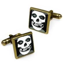 Misfits Crimson Skull Danzig Bronze Horror Halloween Punk Cufflink Set & Box USA