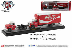 M2 Machines Auto Haulers '70 CHEVROLET C-60 TRUCK & C-60 Box Tuck Coca Cola (car