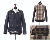 Women's BARBOUR INTERNATIONAL Nylon Jacket Coat Navy Blue Size UK 12 US 8