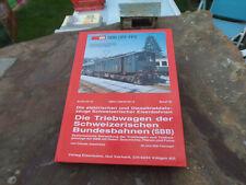 De Claude Jeanmaire Die Triebwagen der Schweizerischen Bundesbahnen SBB