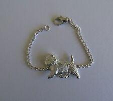 Large Sterling Silver Cairn Terrier Bracelet