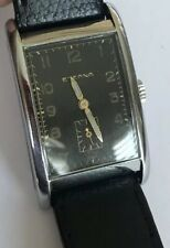 Vintage Eterna tank style watch. Black Radium dial and great condition.