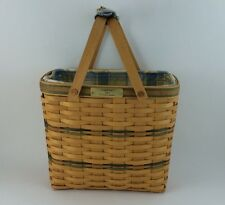 Longaberger 2001 Vip Sales Basket Combo w Handle Tie