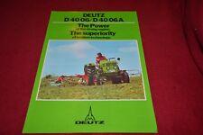 Deutz D 40 06 Tractor Dealer's Brochure YABE15