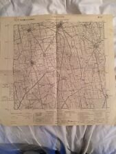 Cartina Militare Del Comune Di Caravaggio (bg), Anno 1931