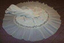 New listing Vintage Van Raalte Opaquelon Accordian Pleat Lacy Nylon Half Slip-Large