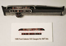 1966 FORD GALAXIE 500 GAUGE FACES for 1/25 scale AMT kits—PLEASE READ DESC