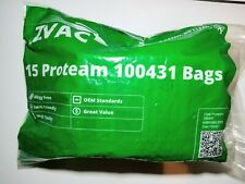 Zvac 15pk Proteam 100431 Vacuum Bags for 6 quart backpack vacuums