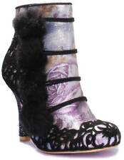 Women's Irregular Choice Slumber Party Rounded Toe Ankle BOOTS in Black UK 5 / EU 38