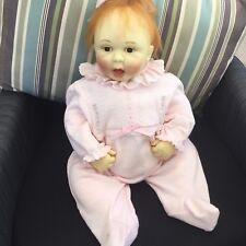 Shelia Michaels Toddler Baby Girl Wax Lifelike Doll 1997 HandsignedSo Pretty
