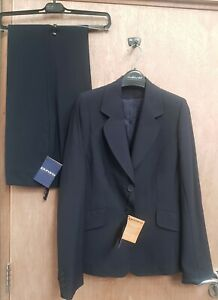NEW **NAVY BLUE  **CLASSY LADIES SIZE 10 R SUIT JACKET & TROUSERS RRP £150+