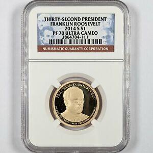 2014-S President Franklin Roosevelt $1 NGC PR 70 Ultra Cameo 181676B