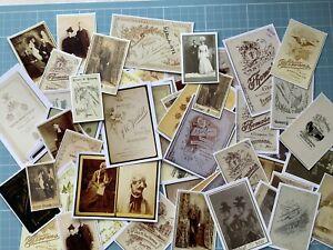 20 Vintage Photographs Portraits Cabinet Cards Junk Journal Ephemera Paper Craft