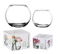 Pasabahce Round Glass Flower Vase Fish Bowl Balloon Centerpiece Wedding Gift Box