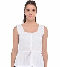 Ladies Pure White Cotton Top | Cotton Lane