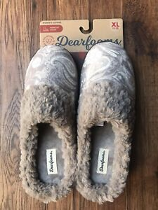 Dearfoams Women Slippers Printed Paisley XL (11/12) Taupe Tan Comfortable