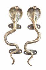 Vintage Style Brass Door Handle Snake Shape Antique Door Handle Pair Home Decor