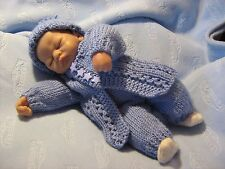 """3 PAPER KNITTING PATTERNS to fit  Reborn 10""""/Tiny Baby/Preemie"""