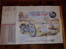 VINTAGE 1955 NORTON DOMINATOR BRITISH MOTORCYCLE DOMI RACER PRICE POSTER 34 X 22
