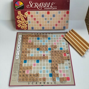 Vintage 1982 SCRABBLE Selchow & Righter - Complete Board Tiles Holders, Crafts