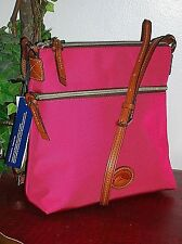 Authentic Dooney & Bourke Pink Nylon&Leather Crossbody/Messenger Bag/Purse nwt