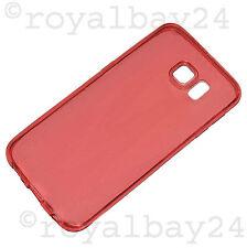 Extra dünn Silikonhülle für Samsung Galaxy S6 ultra thin TPU Case Hülle rot NEU