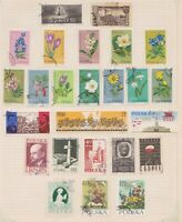 (PLT-25) 1962-3 Poland mix of 64stamps value to 2.5zt (Y)