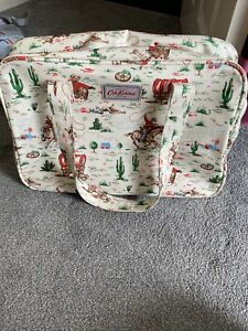 Cath Kidston Large Boxy Cowboy Holdall Weekend Bag Oilskin Warm Cream