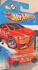 HOT WHEELS HEAT FLEET '12 ORANGE MITSUBISHI 2008 LANCER EVOLUTION RARE! HTF!