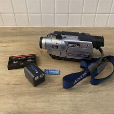 Sony Handycam DCR-TRV350 Hi8/8mm Digital Tape Camcorder Battery Accessories READ