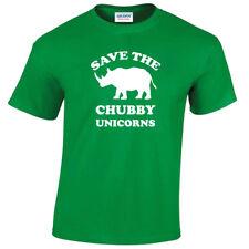 Infantil Save The Chubby Unicorns Camiseta Divertida Hombre S-5XL Rinoceronte