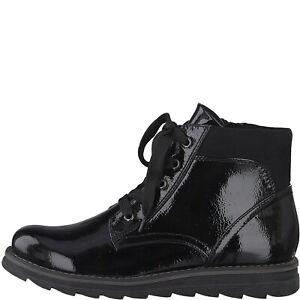 Marco Tozzi 2-25295-23 059 Black Patent Ladies Boots Sizes 4,5,6,6.5,7