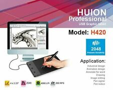 Huion H420 Graphics Drawing Tablet Board USB Art Digital Pen with Hot Key