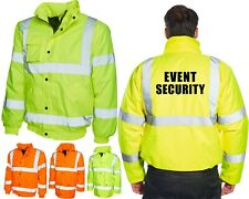 Event Security Hi Vis Bomber Jacket Wedding Sports Occasion Security Guard Wear